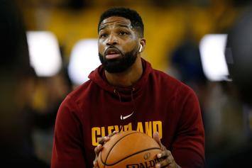 Tristan Thompson Gifts Baby True With A Stack Of Fresh Nikes