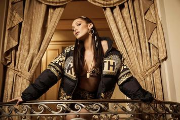 Bella Hadid Stuns In New KITH Park X Versace Collab