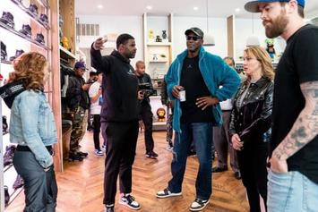 Michael Jordan Flexes Travis Scott Air Jordan 1's At Social Status Reopening