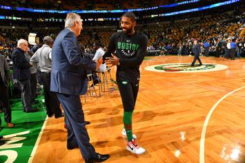 """Danny Ainge Reacts To """"Illogical"""" Questions Concerning Kyrie Irving's Efficiency"""