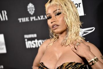 Nicki Minaj Teases Pregnancy Talk With Tummy-Rubbing Boyfriend