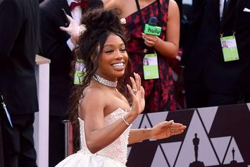 SZA Wows In White Strapless Gown At Oscars