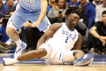 """Duke's Zion Williamson To Miss 3rd Straight Game Since """"Sneaker Implosion"""""""