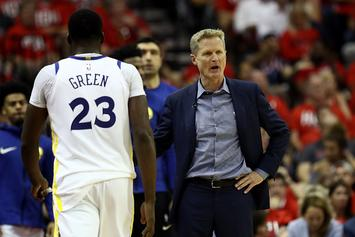 """Steve Kerr Appears To Say, """"I'm So F*cking Tired Of Draymond"""": Video"""