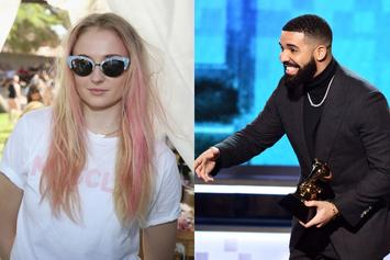 "Drake ""Inspired"" By Sophie Turner Bodying Wine At A Hockey Game"