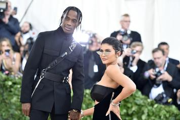 Travis Scott & Kylie Jenner Visit Nas' Restaurant With Baby Stormi