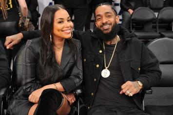 Rihanna Shares Beautiful Collage Of Lauren London & Nipsey Hussle