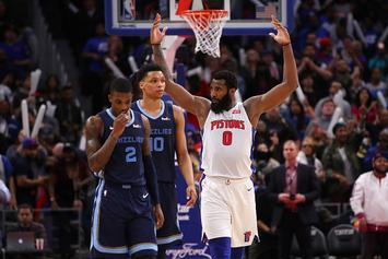 Pistons' Andre Drummond Claps Back At Disgruntled Fan On Twitter