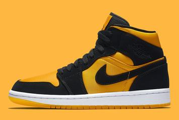 "Air Jordan 1 Mid ""University Gold & Black"" Drops Soon: Official Images"