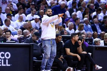 "Drake Shows Love To Former Canadian Series ""Breaker High"" At Raptor's Game"
