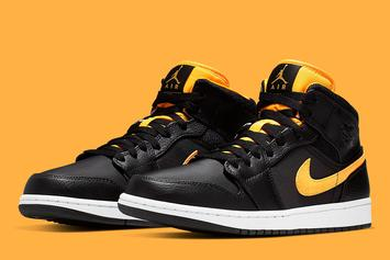"Air Jordan 1 Mid ""Black & Gold"" Coming Soon: Official Photos"