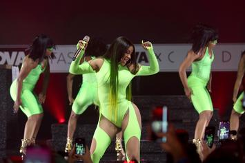 "Cardi B Brings Out Lil Nas X At Fashion Nova Launch For ""Old Town Road"" Performance"