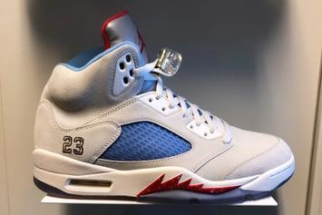 "Trophy Room X Air Jordan 5 ""Sail"" Colorway Teased By Marcus Jordan"