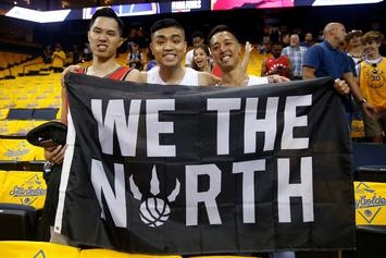 "Raptors Fans Invade Oracle Arena With ""O Canada"" After Game 3 Win"
