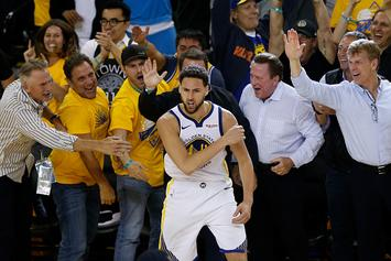"""Klay Thompson's Dad Says """"No Question"""" Klay Will Re-Sign With Warriors"""