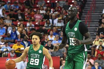 Tacko Fall & Carsen Edwards' Height Difference Has Fans Cracking Jokes
