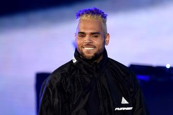 "Chris Brown Rocks Pink Tie-Dye Hair & New Face Tat On ""Indigoat"" Tour"