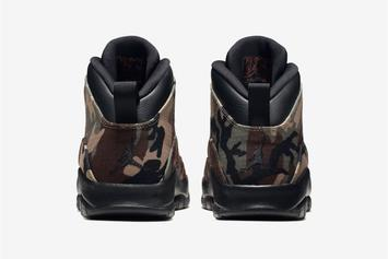 "Air Jordan 10 ""Woodland Camo"" Official Images, Release Date Announced"