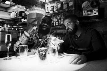"Drake & Rick Ross Mob Out Together In ""Money In The Grave"""