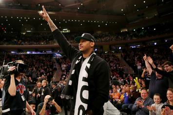 Carmelo Anthony Is A Proud Father Teaching His Son How To Ball: Watch