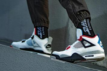 """Air Jordan 4 """"What The"""" Set For This Fall: Detailed On-Foot Photos"""