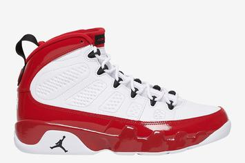 "Air Jordan 9 ""Gym Red"" Mimics Jason Kidd's Classic PE: Official Photos"