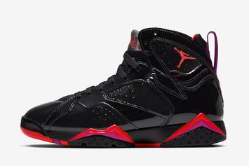 Air Jordan 7 Patent Leather Releasing In Raptors Colorway: Official Images