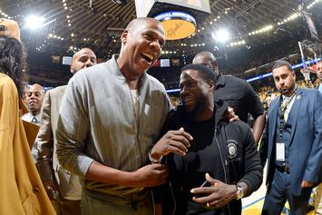 Kevin Hart Kicks It With Jay Z & Irv Gotti Following Hospital Release