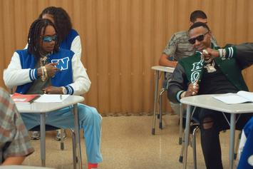 """Wiz Khalifa & Moneybagg Yo Are Frat Leaders At Taylor U In """"Never Lie"""" Video"""
