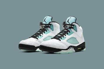 "Air Jordan 5 ""Island Green"" Drops Today: Purchase Links"