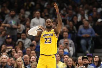 LeBron James Flexes Unreleased Off-White Shoes Prior To Lakers Flight