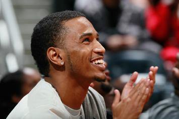 Trey Songz Shares Adorable Photo Of Him & Son Courtside At Knicks Game