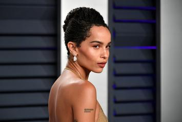 "Zoe Kravitz Laughs At Trump Impeachment With Topless Peach Photo: ""Eat That"""