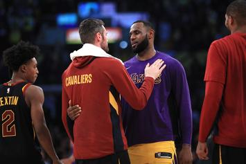 LeBron James Stared Down By Tristan Thompson After Dunk: Watch