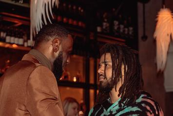 J. Cole Daps Up LeBron James At Lakers Game, Fans React