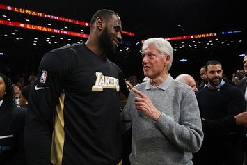 LeBron James Reacts To Meeting Bill Clinton After Lakers-Nets Game