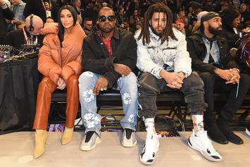 J. Cole & Kanye West Sat Together At NBA All Star Game
