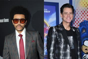 The Weeknd Gifted Portrait Of Himself From Jim Carrey