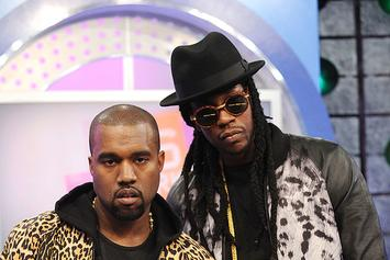 Kanye West & 2 Chainz Had Too Much Fun Watching Lakers-Heat