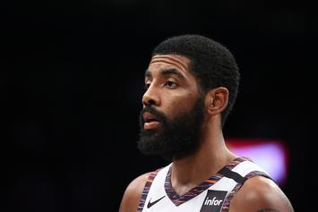 Kyrie Irving Helps Nets Show Off Throwback Uniforms