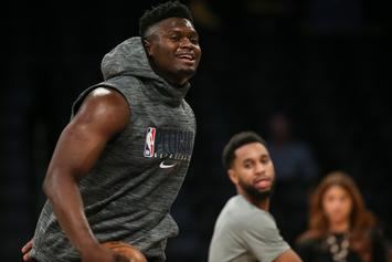 "Zion Williamson Says It's ""Crazy"" How Strong New Teammate Steven Adams Is"