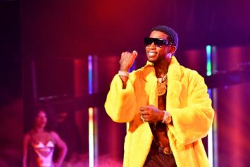 Gucci Mane Shares Photo Of Newborn By Stack Of Gifts & Massive Christmas Tree