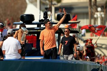 Tom Brady Tempts Fate By Chucking Lombardi Trophy Off His Boat