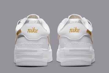 Nike Air Force 1 Shadow Gets Gold & Silver Swooshes: Photos