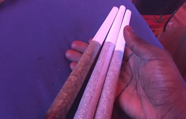Chief Keef poses with his giant joints