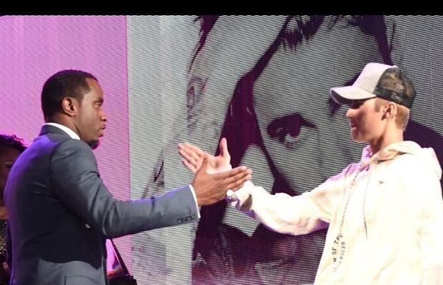 Diddy and Justin Bieber at the AMAs
