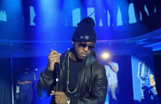Jeremih at the The Pepsi Summer Kickoff Party with iHeartRadio