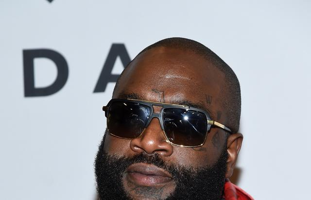 rick ross on tidal red carpet