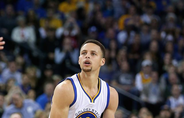 Steph Curry at Dallas Mavericks v Golden State Warriors 2016