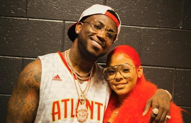 Gucci Mane and his fiance.